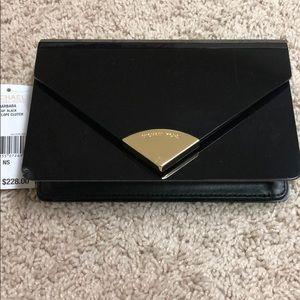 Brand new Michael Kors envelope clutch black w/tag
